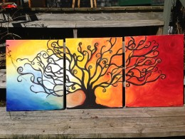 Tree Painting Triptych